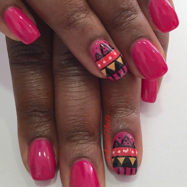 #AccessNails #EnghienLesBains #ongles #gelUV #vernis #rosefushia #nails #ethnique #uñas #nailart #nailaddict #nailoftheday #nailtoinspire #instanails #follow #share #like