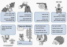 Tiere im Winter - Faltheft