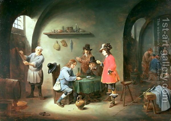 Gambling Scene at an Inn, late 1640s by David The Younger Teniers