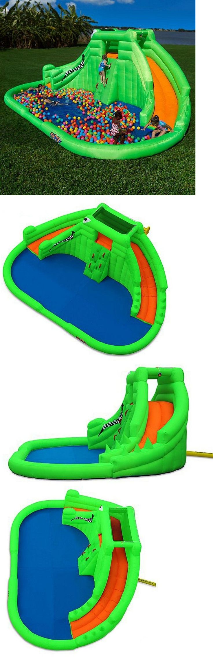 Water Slides 145992: Big Inflatable Water Slides Aqua Park Kids Pool Alberca Inflable Resbaladillas -> BUY IT NOW ONLY: $1459.99 on eBay!