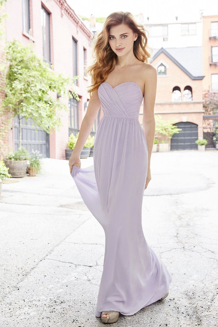 81 best hayley paige occasions images on pinterest bridesmaid lilac chiffon strapless a line bridesmaid gown draped cross over neckline natural waist gathered skirt arriving in stores august 2017 ombrellifo Image collections