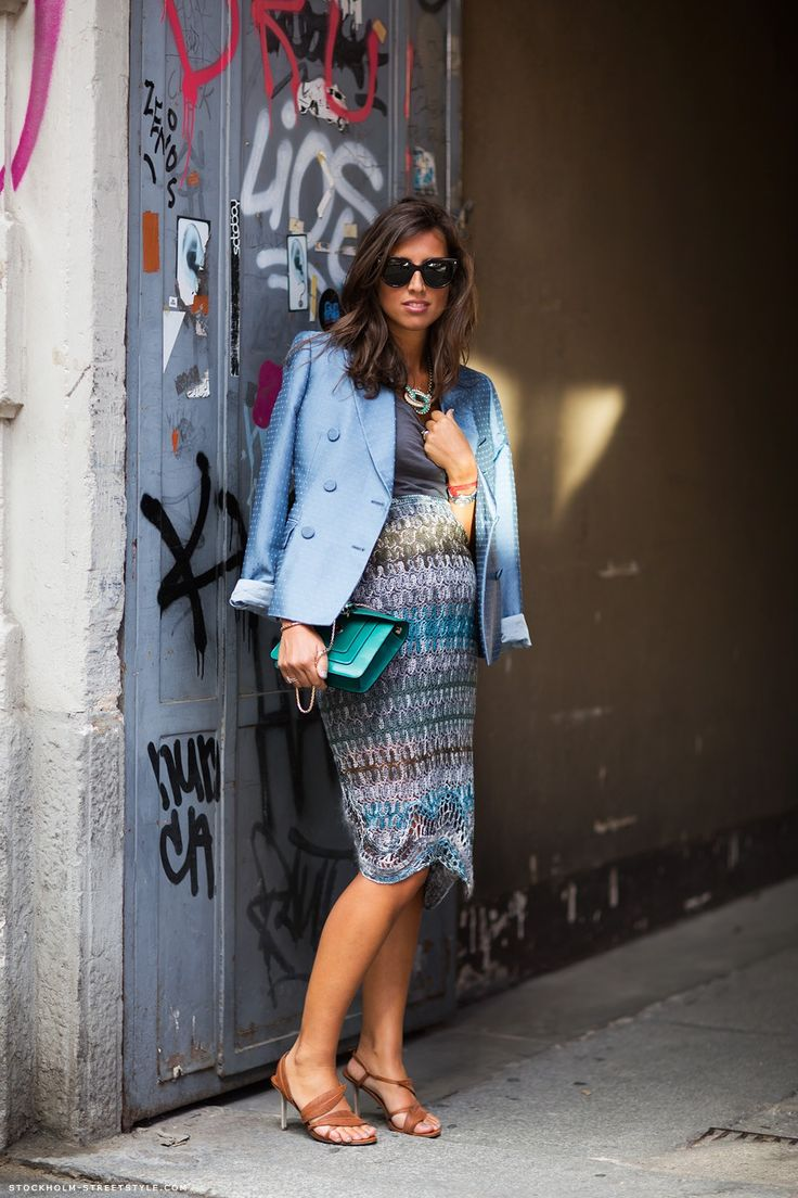 I'm wearing a skirt from Missoni, jacket from Stella McCartney, bag from Bulgari and shoes from Sergio RossiMartina http://carolinesmode.com/stockholmstreetstyle/art/252598/martina/