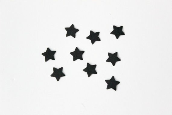 Black Mini Star Confetti Birthday Confetti Star by SweetPaperLove