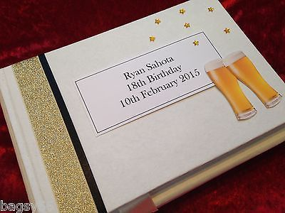 #Personalised birthday #guest book mens beer 18th 21st 30th 40th 50th 60th #boxed,  View more on the LINK: http://www.zeppy.io/product/gb/2/221679876727/