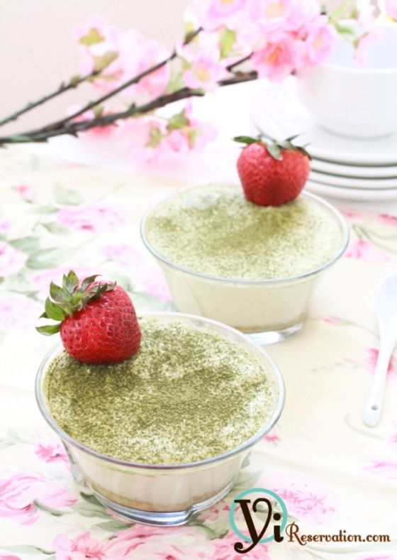 Mini Green Tea Tiramisu. Sub for mascarpone: http://www.food.com/recipe/substitute-for-mascarpone-cheese-28620