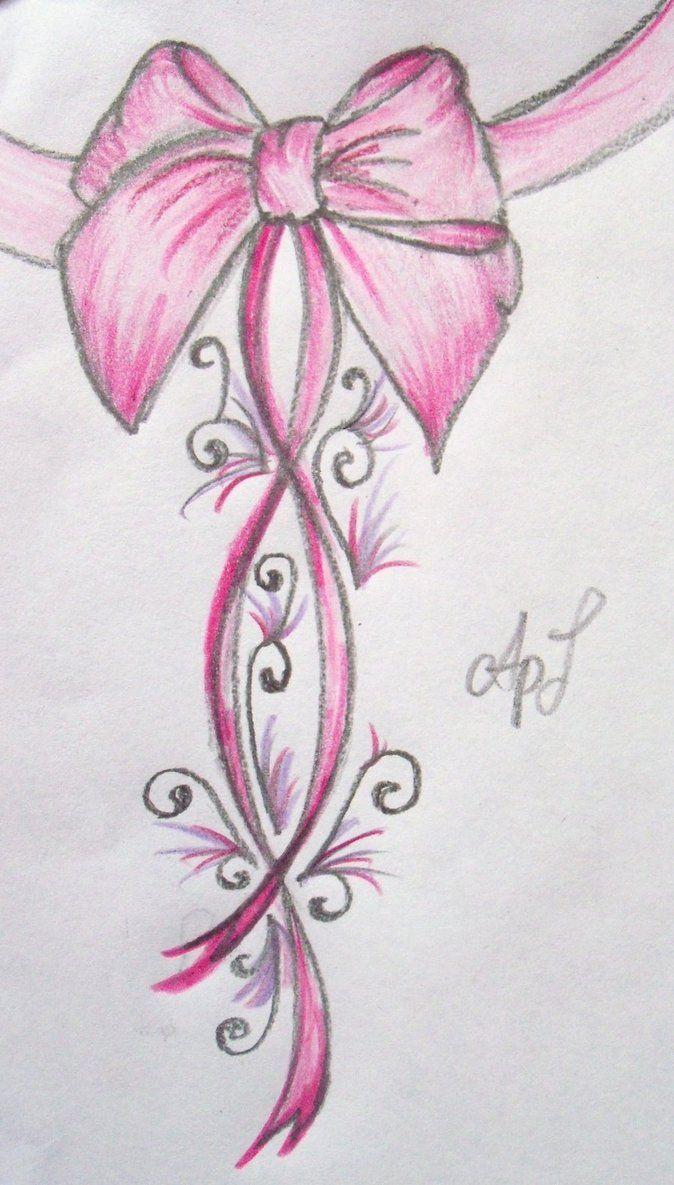 Pink Bow Tattoo ....New by ~Cupcake-Lakai on deviantART