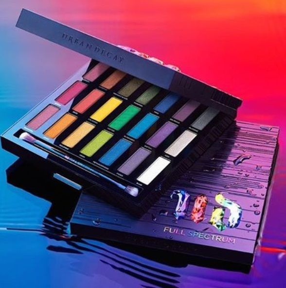 The Urban Decay Full Spectrum Eyeshadow Palette will be launching at Sephora late in October at Sephora.com and is filled with 21 shades of vibrant eyeshad