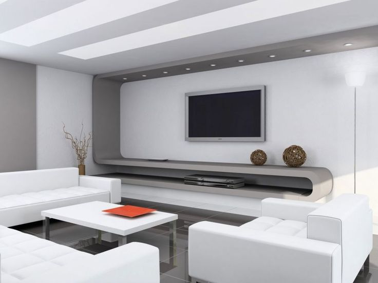 Furniture, Minimalist Interior Decoration In Home With Wonderful Tv Wall  Units And Modern White Sofas Also Beautiful White Table Plus Cool Stainless  Legs On ...