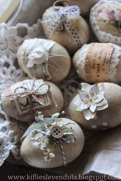 Beautiful egg decorations for Easter or spring Wedding