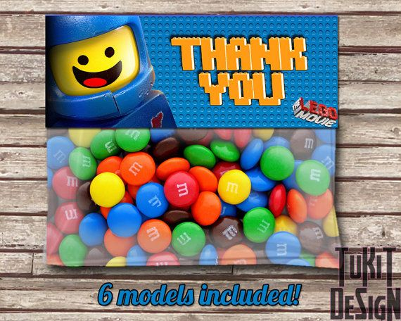 Lego Movie Favor Bag Toppers BIRTHDAY party by TuKitDesign on Etsy, $5.00