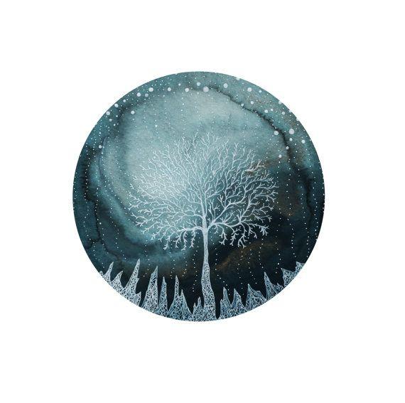 Fine Art PrintIndigo ghiaccio bosco di elisemahanfineart su Etsy