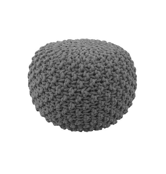 Handmade Knitted Pouf  Grey Charcoal  Hand Knit Pouf by GFURN  **Canadian made!  #knitting  #quebec  #homedecor