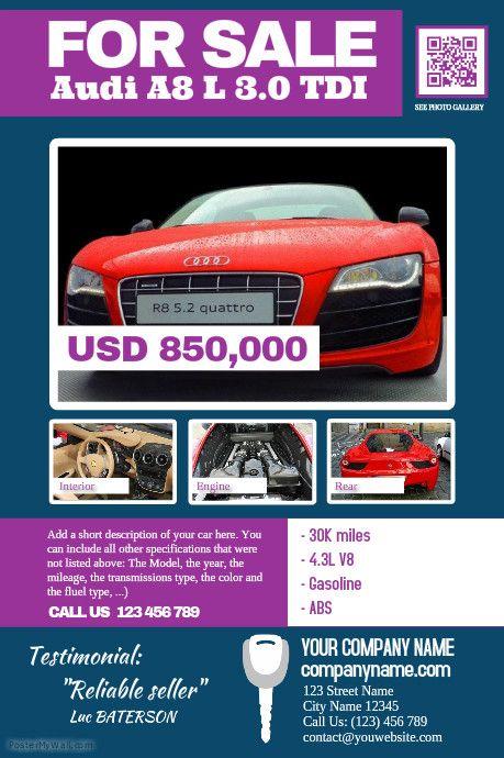 17 Best images about Car Dealer Flyer DIY – Car Sale Flyer