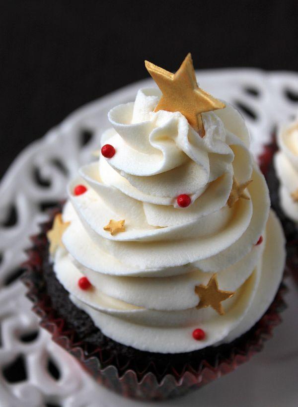 Cupcake Decorado de Natal Christmas Cupcake Cupcake Natalino Feliz Natal