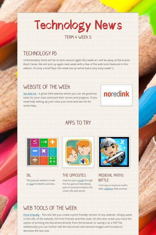 Technology News T4 W5
