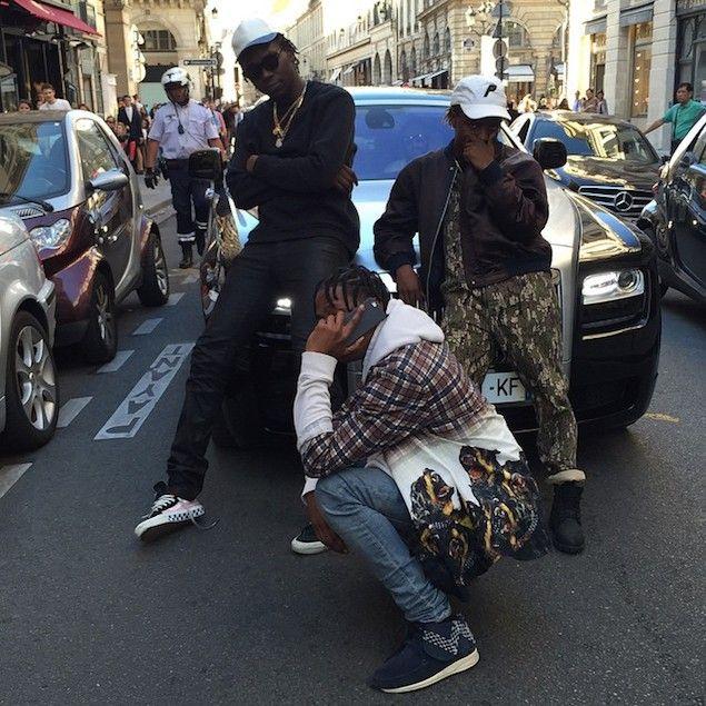 Travis Scott Wears Givenchy Shirt and Visvim FBT Sashiko Sneakers   UpscaleHype
