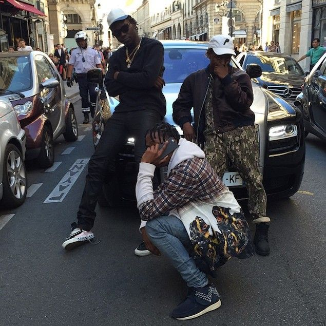 Travis Scott Wears Givenchy Shirt and Visvim FBT Sashiko Sneakers | UpscaleHype