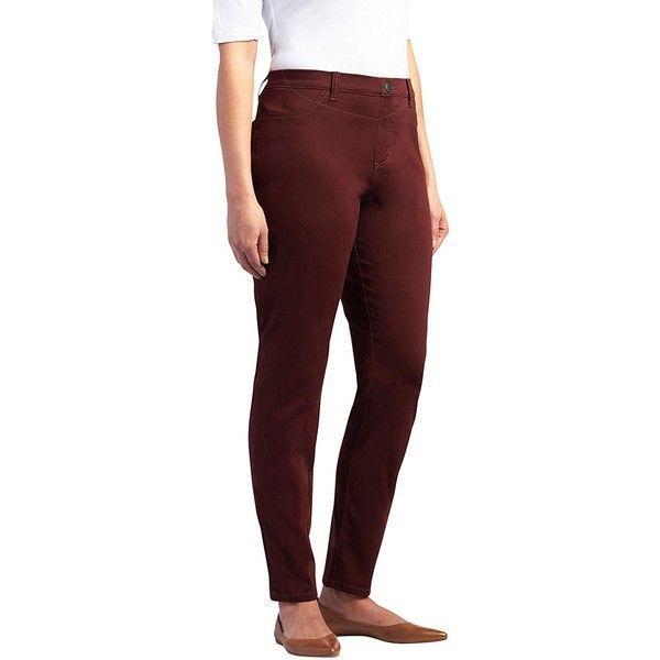 Lee Women's Petite Easy-Fit Jade Legging ($17) ❤ liked on Polyvore featuring pants, leggings, petite, lee pants, red trousers, red leggings, lee trousers and petite trousers