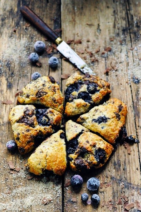 Like blueberry and chocolate scones - Recipe in English...
