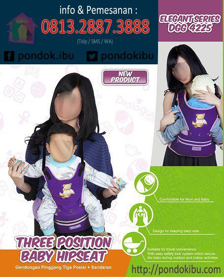 Gendongan bayi simple, fungsional dan trendi ini menawarkan penggunaan yg mudah karena ada 3 macam posisi menggendong.  Kelebihan : Memudahkan bunda untuk mengendong bayi dengan berbagai posisi, Tersedia dengan 2 macam varian: ungu dan orange,  Untuk Bayi usia 6 bulan hingga 3 tahun  Lihat selengkapnya : http://pondokibu.com/produk/perlengk...-dialogue-baby  Informasi pemesanan,hub TELP/SMS/WA : 0813.2887.3888  Facebook: https://www.facebook.com/pondok.ibu Twitter…
