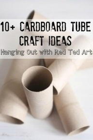Nice ideas and videos from @Sarah Chintomby Therese Ted Art EVERYONE has a Toilet Paper Roll in their house.. so they make for GREAT craft materials. Here we share a video AND links of what to make with them all. Well over 10 (nearer 20) Fabulous Cardboard Tube Craft Ideas to inspire you!
