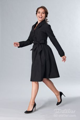 50's Style Angie Raincoat in Black