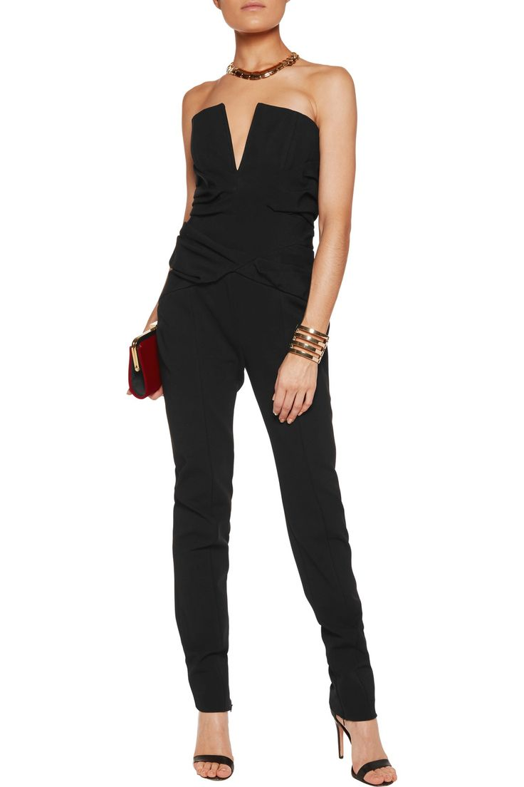 Shop on-sale Balmain Strapless pintucked crepe jumpsuit. Browse other discount designer Jumpsuits & more on The Most Fashionable Fashion Outlet, THE OUTNET.COM