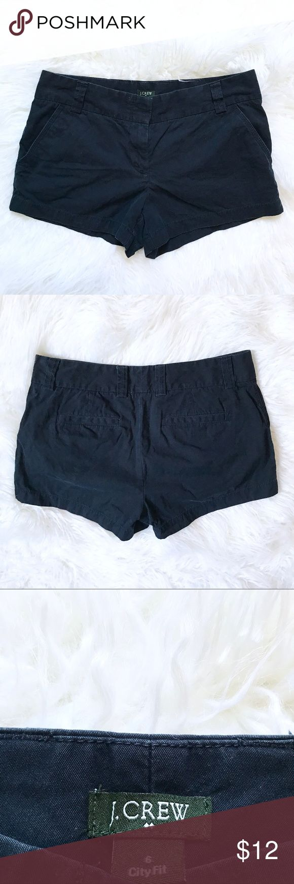 "J Crew Shorts Women's Navy Blue City Fit Size 6 Women's J.crew navy blue city fit shorts, excellent used condition. Great shorts for work or casual lounging. Not super short, but considered ""short shorts"". If you have any questions comment(:       Tommy Hilfiger . Ralph Lauren . Banana Republic . Lululemon . Vineyard Vines . Southern Tide . Forever 21 . H&M J. Crew Shorts"