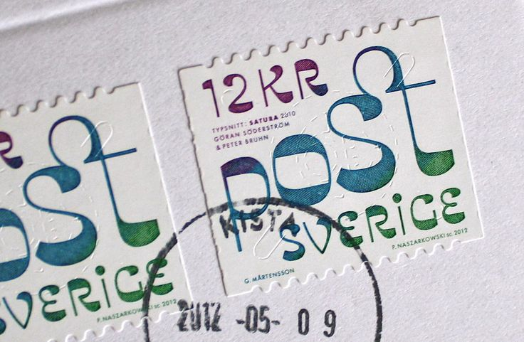 Typographic Swedish Stamps - Fonts In Use