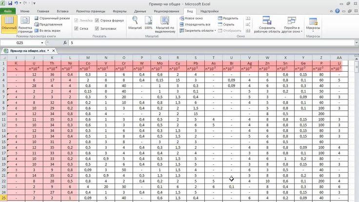 Приемы первичной обработки массивов данных в MS EXCEL