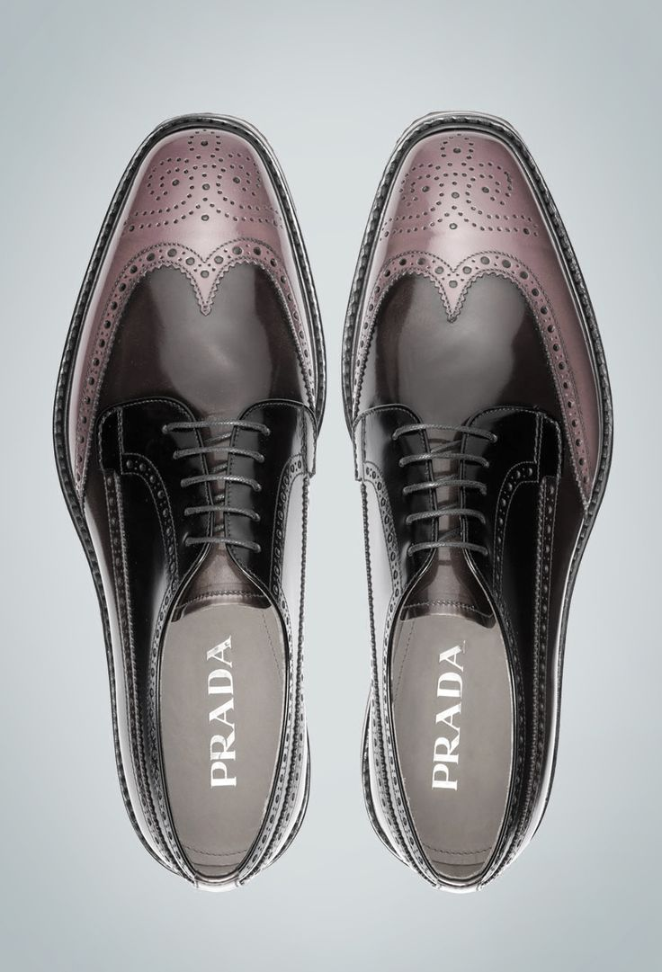 Prada For Men -Gloss Effect Brogues