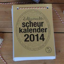 Zelfgemaakte scheurkalender 2014