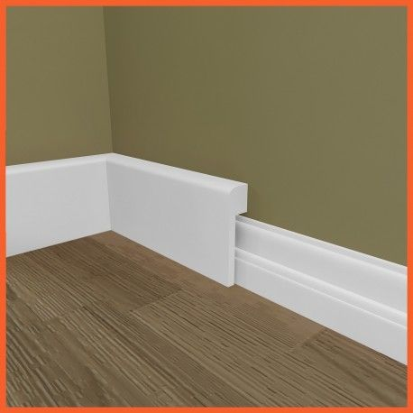 Our Mini Bullnose MDF skirting board cover (skirting over skirting) is an ideal method to modernise your skirting without removing your existing skirting.