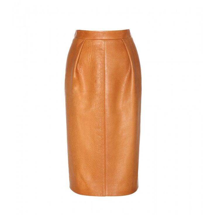 Miu Miu - Leather pencil skirt - Miu Miu's pencil skirt is swathed in retro charm. We love the grainy tan leather, which has been cut for an elegant, classic silhouette. Tuck in a printed blouse and elevate with ladylike pumps. seen @ www.mytheresa.com