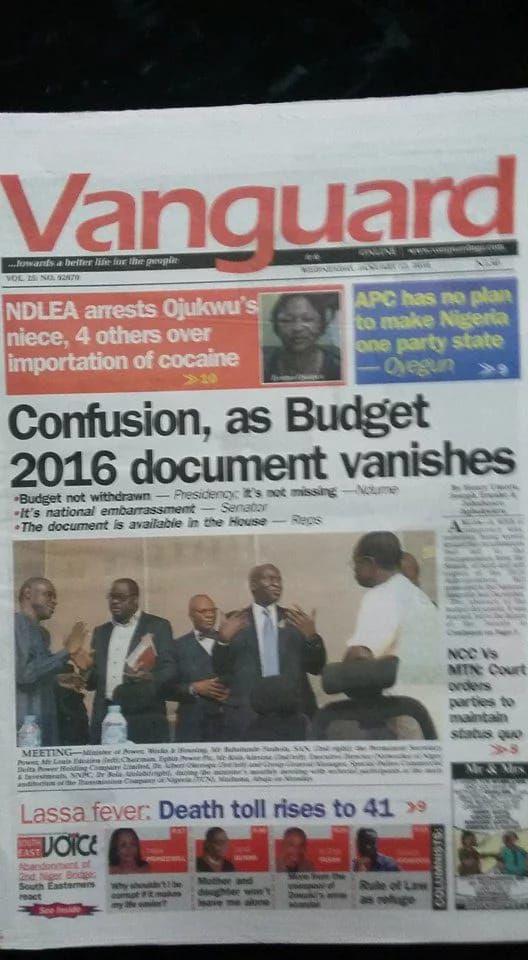 Dmegy's Blog: Nigerian Newspapers' Headlines Today