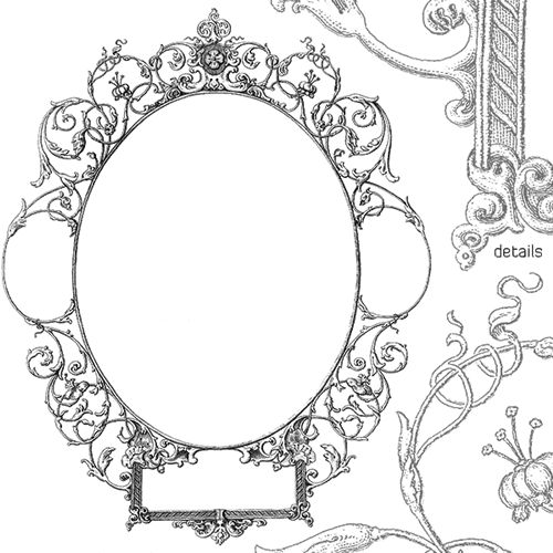 free decorative frames borders for illustrator or photoshop - Decorative Picture Frames