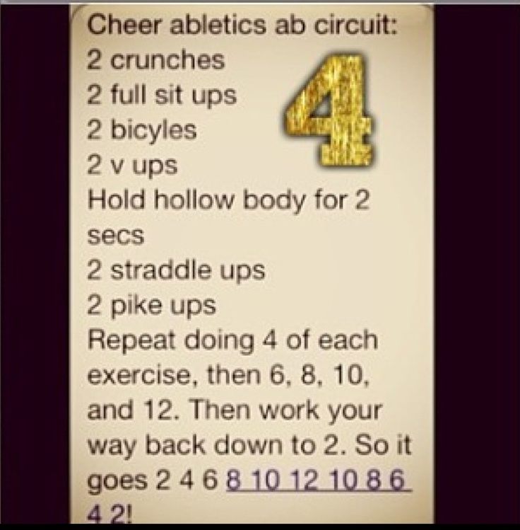 #cheer #abs #workout
