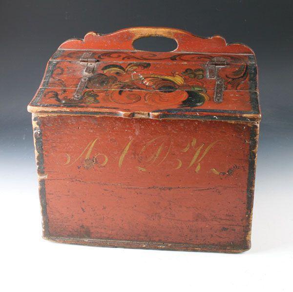 Norwegian Flour Box (Melkar) from 1800s - L.41cm - NOK 3.800