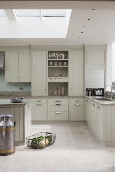 love the long cabinets with shelves
