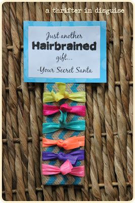 Adorable Secret Santa or Stocking Stuffer gift. Can't believe they have these hairbands at the Dollar Tree!