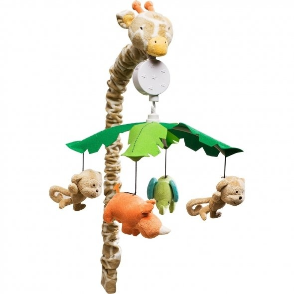 Carter's Wildlife Musical Mobile, Beige (With Images