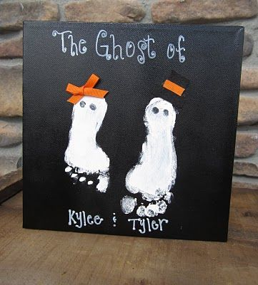 Ghost footprints #crafts #ghosts