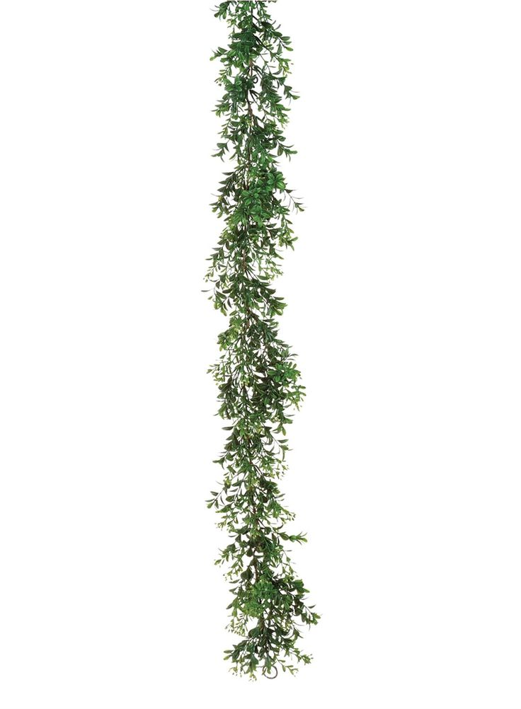 Artificial Boxwood Garland in Green - 6ft. Long  Looking for wedding garlands or artificial greenery? Check out this adorable, faux boxwood greenery garland in green. Dress up event tables, chairs, wedding arches, create backdrops, or add silk flowers to this lovely boxwood garland to make a DIY floral table runner!  #afloral