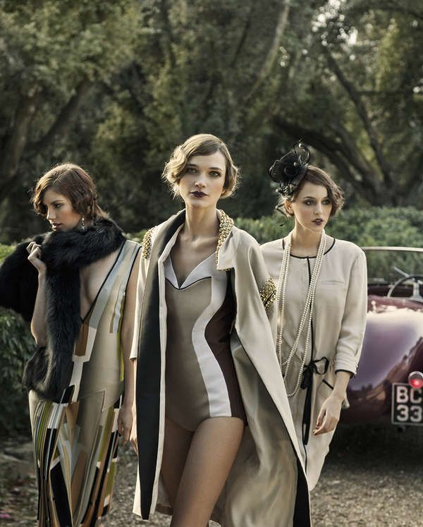 20s-Inspired Sorority Editorials - The Ladies Magazine 'Gatsby Girls' Photoshoot is Glamorous (GALLERY)