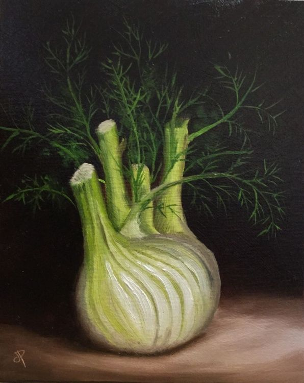 Fennel - Oil painting by Jane Palmer