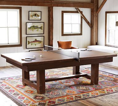 Table Tennis Cover for Pool Table #potterybarn