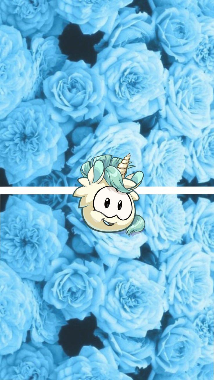 club penguin white unicorn puffle wallpaper Fondos para