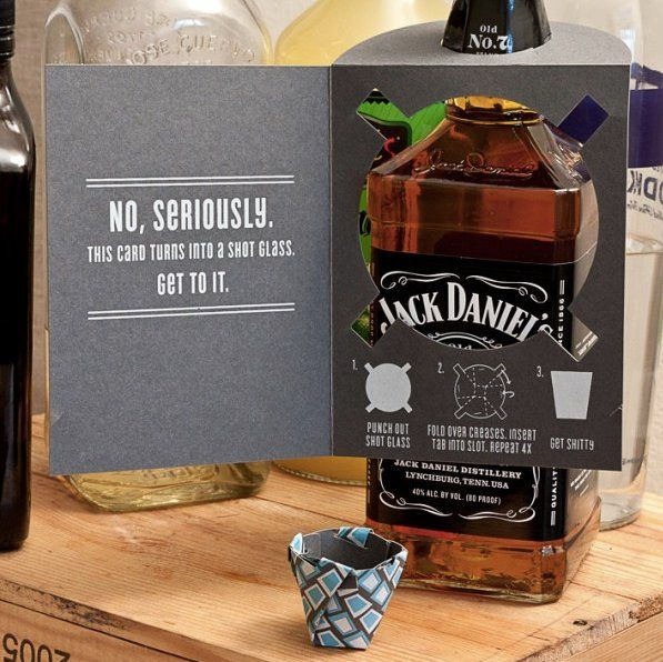 DIY birthday card shot glass! Awesome! If someone gets me this, I will love them forever