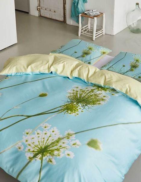 ... satijn, paardebloem,kleur blauw,geel, groen,wit,theo bot ,slaapkamers