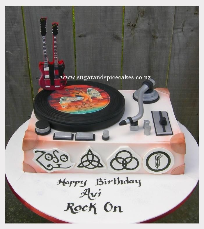 Led Zeppelin cake for my ROCKer  - Cake by Mel_SugarandSpiceCakes